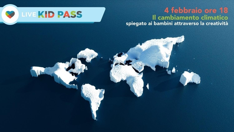 """I cinque continenti ricoperti di ghiaccio. Immagine dell'evento organizzato da Kid Pass: """" Gli obiettivi dell'ONU visti dai bambini attraverso la creatività"""""""